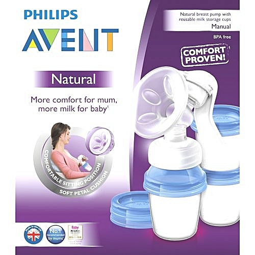 Avent manual breast pump assembly