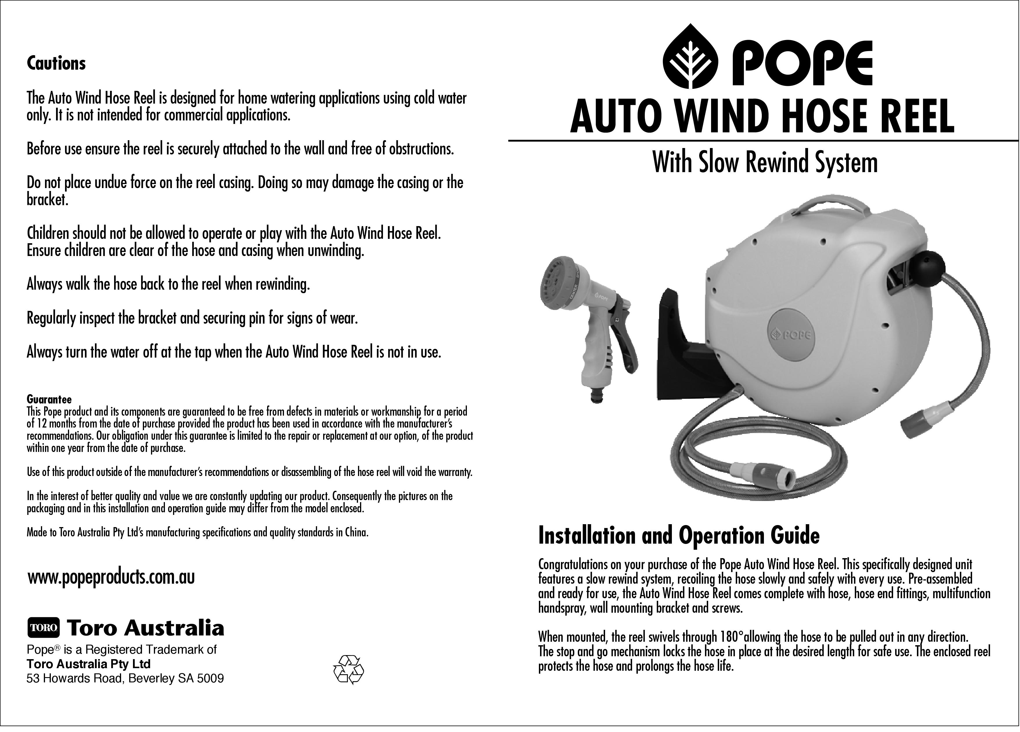 Pope water timer instructions