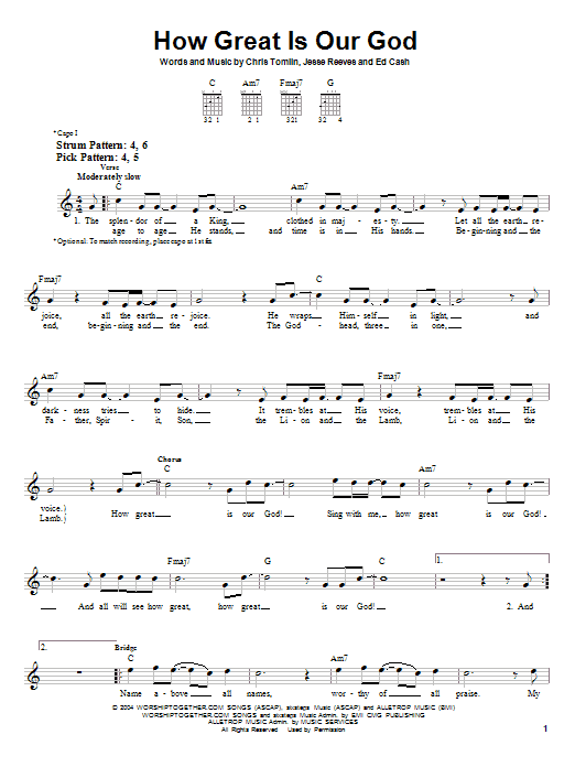 To our god chords pdf