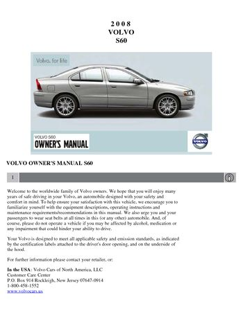 2002 volvo s60 owners manual pdf