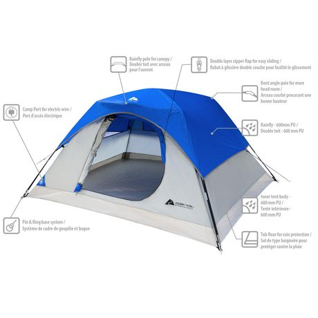 ozark trail 3 person dome tent instructions