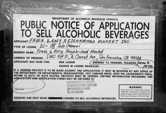 Application for liquor licence in north west