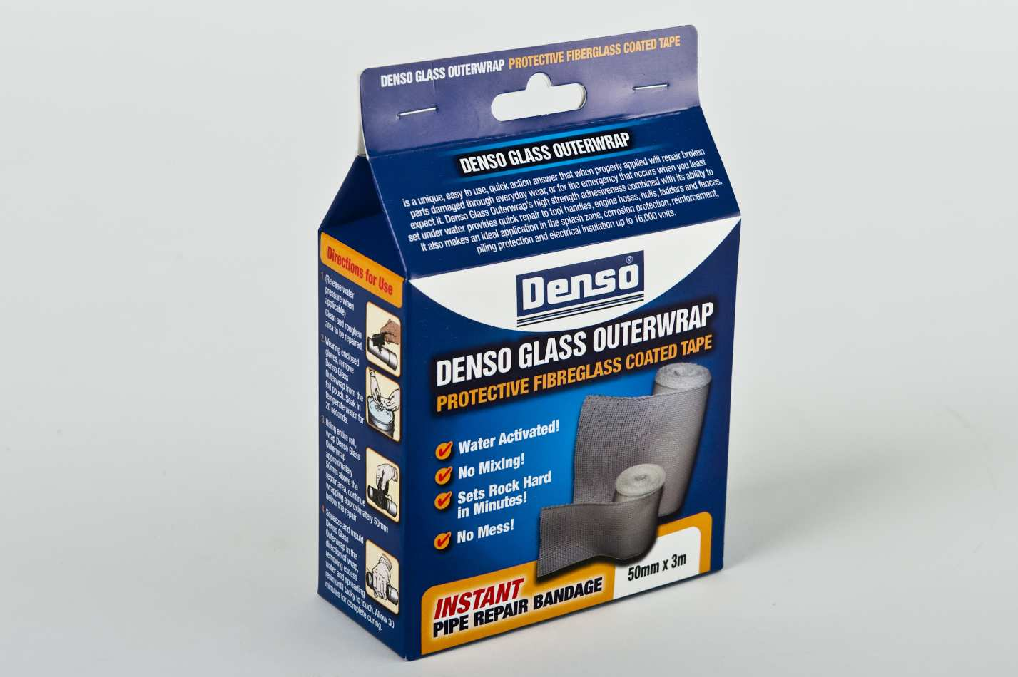 Denso application guide for glass outerwrap