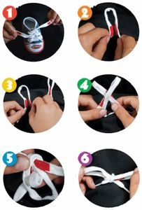 instructions for tieing shoe