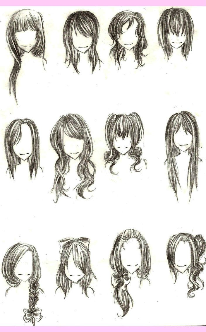 Types on how to draw anime hair